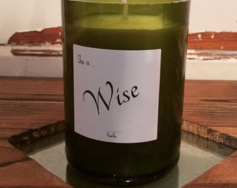 Hand Made 100% Soy Candle- Vanilla