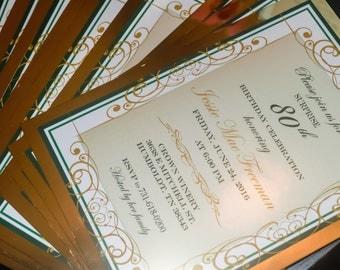 Gold Foil Layered Invitation