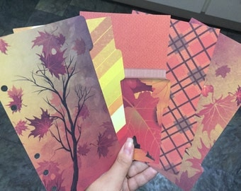 Falling Leaves Autumn Theme Dividers