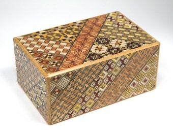 21 Step Japanese Puzzle Box Secret Yosegi Hakone 5 Sun Trick Opening Crafted L Himitsubako Famous Souvenirs