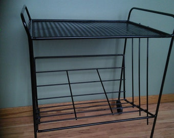 1950's MCM  Metal Cart/Optional Metal Vintage Tray/LOWER PRICE!