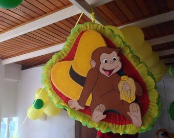 Curious George Pinata. Decoration Parties. Party Supplies