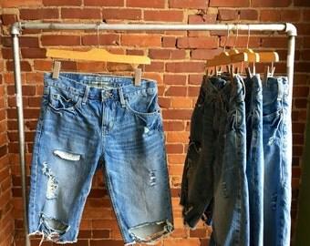 龙SUP men jean shorts