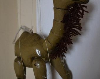 Camel Marionette Puppet Vintage 1980's