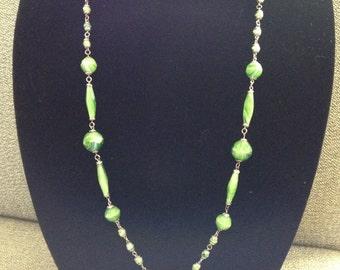 Art Deco Art Glass Necklace