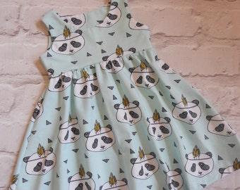 Organic Perfect Panda Mint Summer dress