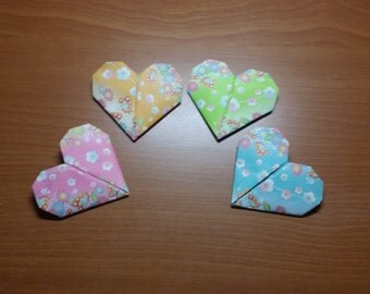 Origami Hearts - Patterned Paper