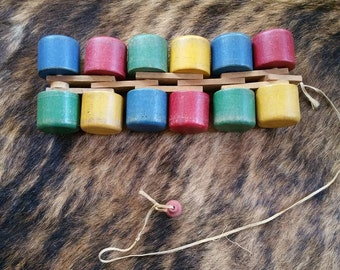 Vintage wooden pull along toy