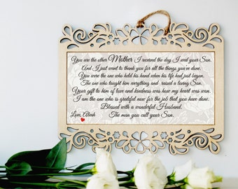 Mother of the Groom gift, Mother in law gift, Parents of the Groom gift, Gift from Bride, Grooms parents, Mother of the groom from bride
