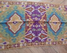 Vintage ETRO Milano Scarf Stole Wool Silk Italian Mod 10660 Ethnic New With Tags Boho Indian Hippie