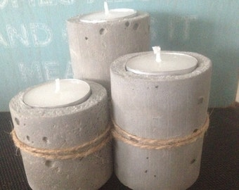 3 tier concrete tea light holder