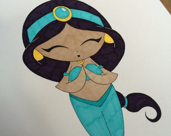 Jasmine Marker Drawing
