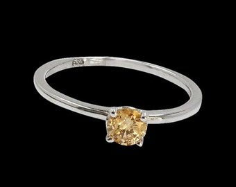 0.35Ct Natural Diamond 14K White Gold Ring