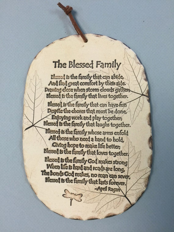 The Blessed Family Poem Family Poem Family Gifts