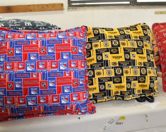 NHL Bruins Hockey Pillows with Cording/NHL Bruins/ Boston Bruins Hockey Pillows/ Boston Bruins/ Pillows Sports/Bruins Pillows