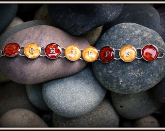 Kansas City Chiefs Inspired Bracelet - Hand Painted