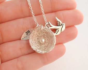 1 Egg Bird's Nest Necklace, Mommy of an Angel Necklace, Only Child Necklace, Memorial Keepsake Necklace, Angel Baby Necklace, Miscarriage