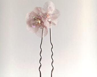 Double Flower Hair Pin