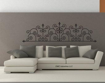 Wrought Iron Scroll #190 - Vinyl Wall Art / Vinyl Sticker / Wall Decal / Vinyl Decal / Wall Art / Vinyl Art /widesign190