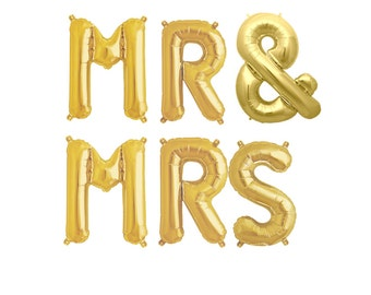 MR and MRS Balloons, Engagement Party, Wedding Announcement, Mr and Mrs, Mr and Mrs Banner, Mr Balloons, Mrs Balloons, Bridal Shower Decor