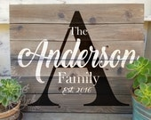 Custom Family Sign, Personalized Family Sig, Family Established Sign, Wedding Decor, Newlywed Gift, Custom Name Sign, Last Name Sign