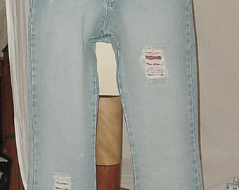 Limited Too Jeans Tattered reborn hippie grunge look girls high waist size 16