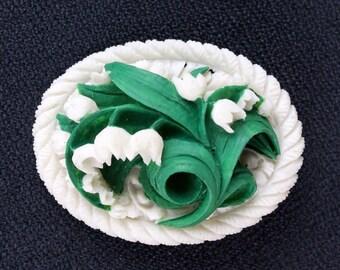 Carved Porcelain Snowdrop Cluster