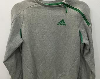 Vintage 90's Adidas Classic Design Skate Sweat Shirt Sweater Varsity Jacket Size S #A21