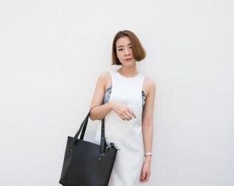 White V Cut Dress