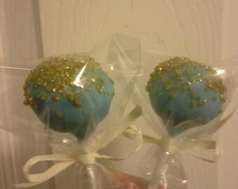 Gold sprinkled Cake Pops