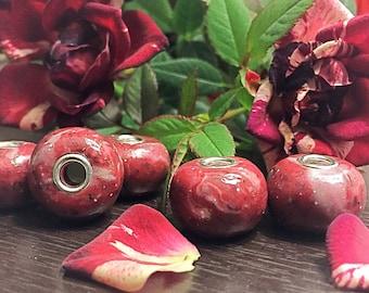 Flower Keepsake Bead European Style Bead Made From Your Flowers
