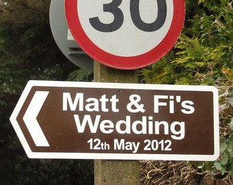Personalised Direction Sign (55 x 20cms)