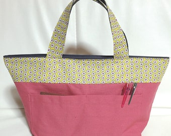 Reversible Zipper Tote *LILY* -Made in Japan-