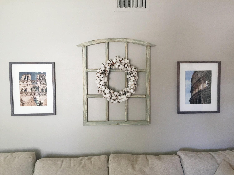 medium handcrafted wood window frame rustic wall art 26 in x. Black Bedroom Furniture Sets. Home Design Ideas