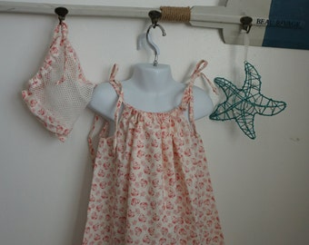 Girl's Small (4-6) Picnic Party from the Summer Solstice/Beach Dress/Adventure Dress/Vintage Fabric