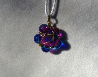 Pink and Blue Star Pendant