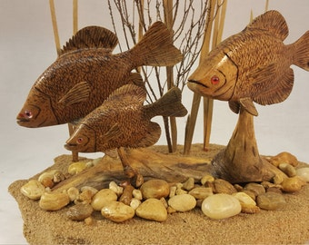hand carved (CRAPPIE FAMILY)