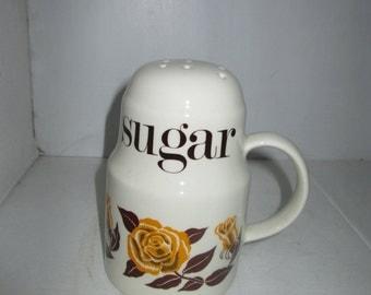 Sugar Shaker 1970s Rose Design