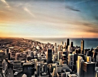 Chicago Skyline - Print or Canvas