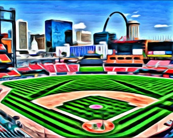 Busch Stadium - Print or Canvas
