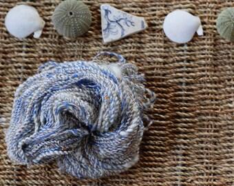 "Hand spun art yarn ""Sidi Ifni"" sun catching beaded yarn, 55m/74g"