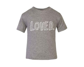 Grey 'Loved' T-shirt / Baby Grow