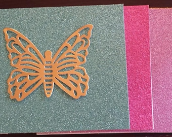 Glitter and Gold butterfly Cards