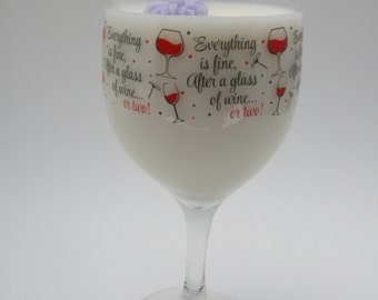Soy Wine Glass Candle
