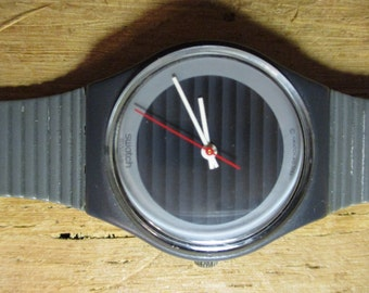 Vintage Swatch 1980s Swiss Made Water Resistant Swatch 755 7202P Wrist Watch/ Swatch Watches