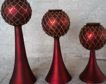 Elegant Glass Candlestick Holders