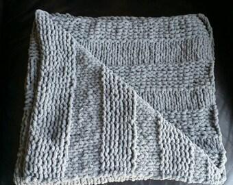 Knit Baby Blankets - Steel Grey