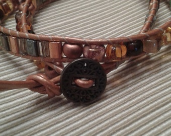 Two Wrap Leather Bracelet