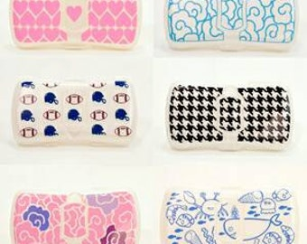 Personalized baby wipes case, decorated diaper wipe case, monogram baby shower gifts, travel wipe holder, diaper bag accessories