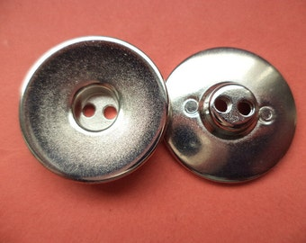 23 mm (5309) metal button buttons 8 metal buttons silver